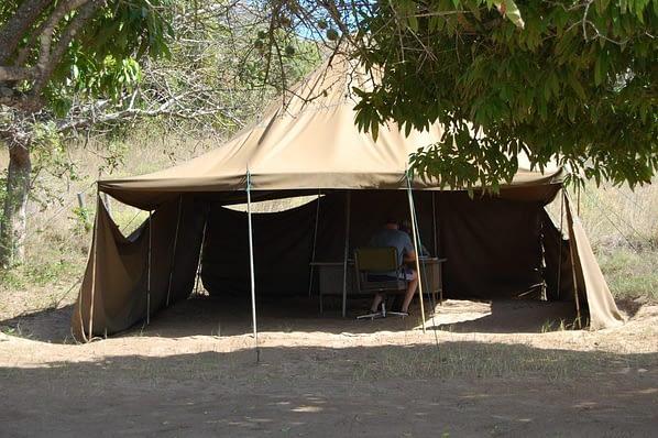 Southern entrance gate reserva de maputo