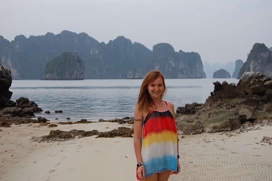 Island Beach in Halong Bay