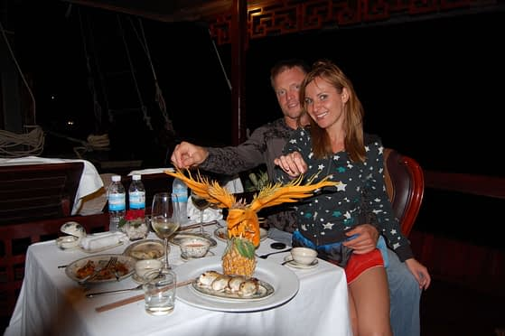Private Halong Bay Cruise Dinner Photos