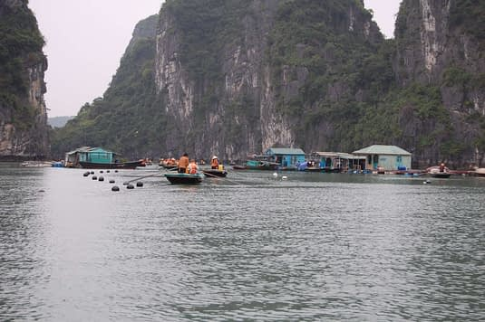 Approaching the Floating Village