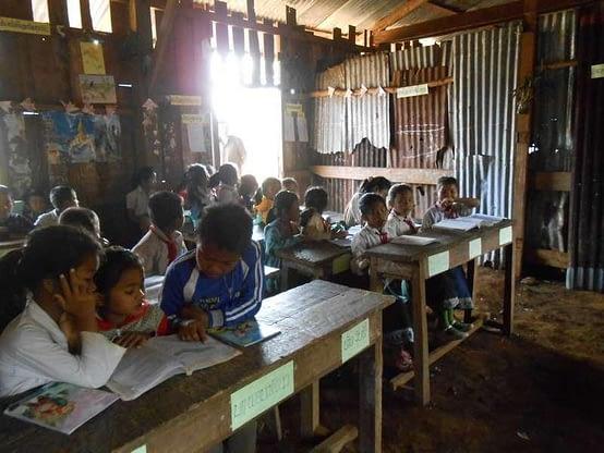 Ka Touat Laos Community previous school building