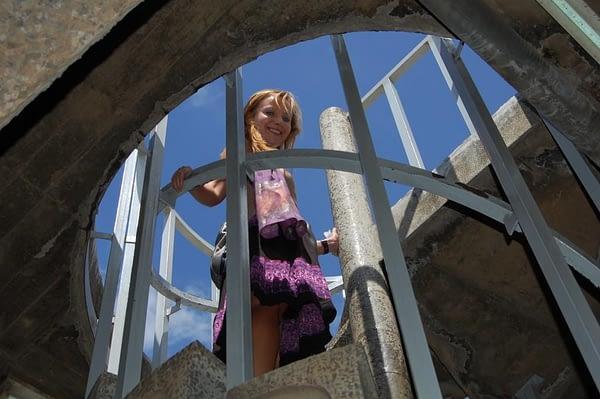 Stairs to Kenyatta Observation Deck