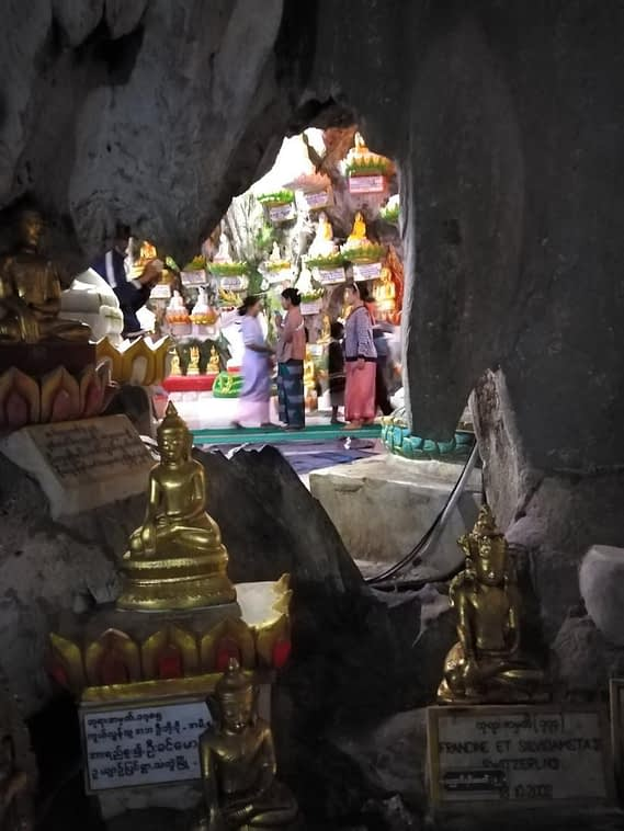 Lower level Pindaya Cave
