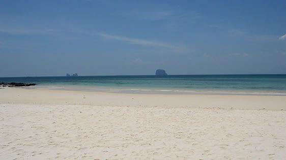 """View off shore from Ko Bulon Leh """"School Beach""""."""