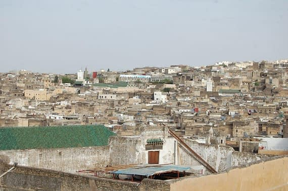 Fez, Morocco cityscape view