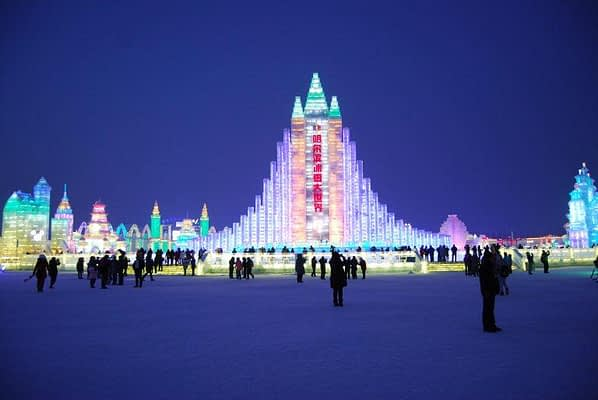 Harbin Ice Festival in Harbin China
