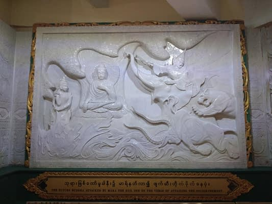 Buddha Temptation of Mara - Plaque