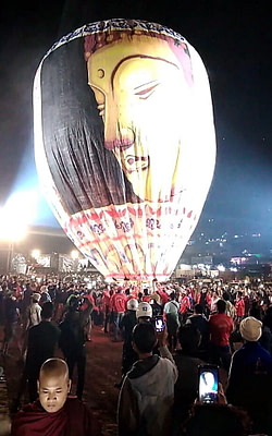 Buddha Balloon Taunggyi Fire Balloon Festival