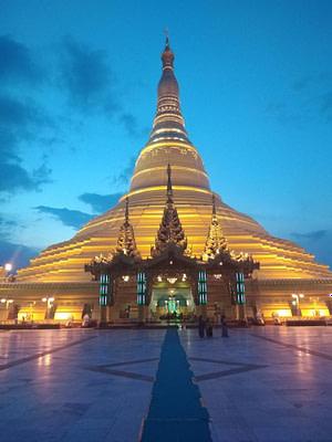 Uppatasanti Pagoda Night