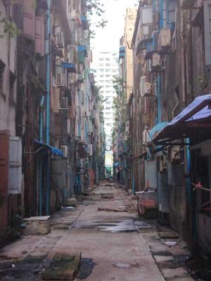 Yangon Tenement building