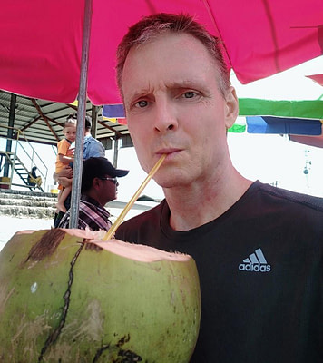 Refreshing cold coconut