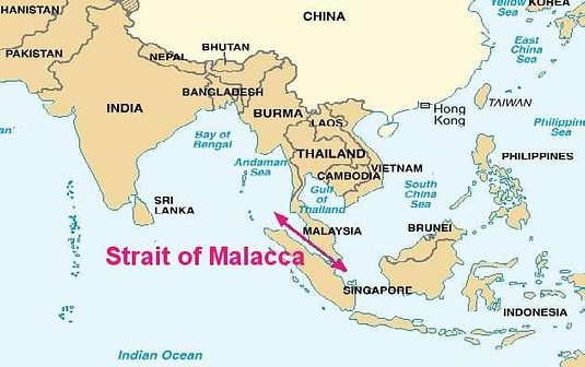 Penang Located on Straits of Malacca
