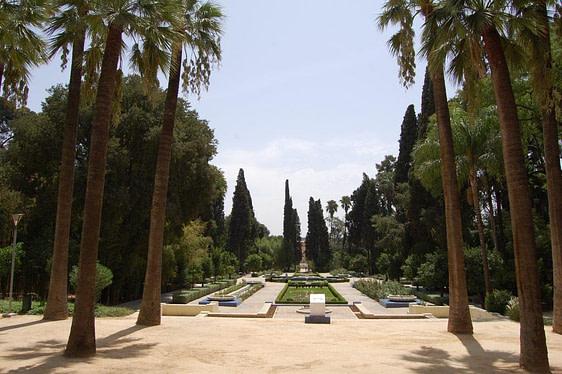 Center Square Jnane Sbil Garden Fez Morocco