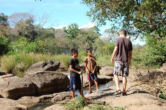 Village Kids at Tad Lo Bolaven Plateau