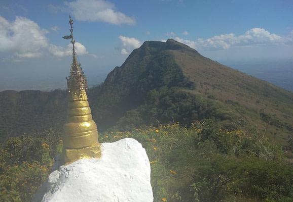Climbing Mount Popa Myanmar