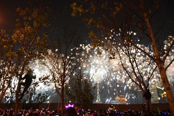 The Bund New Year's Eve Fireworks - China