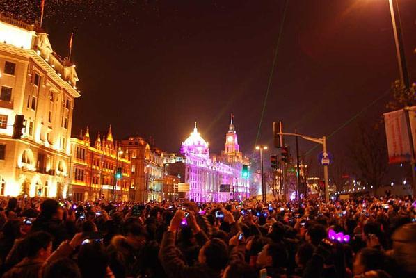 Light Show Shanghai New Year