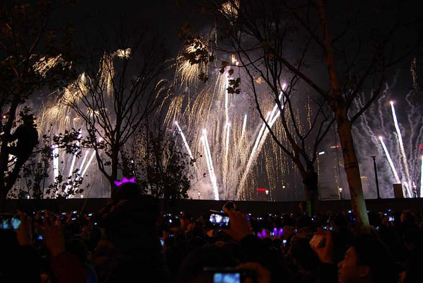 Shanghai New Years Eve Fireworks