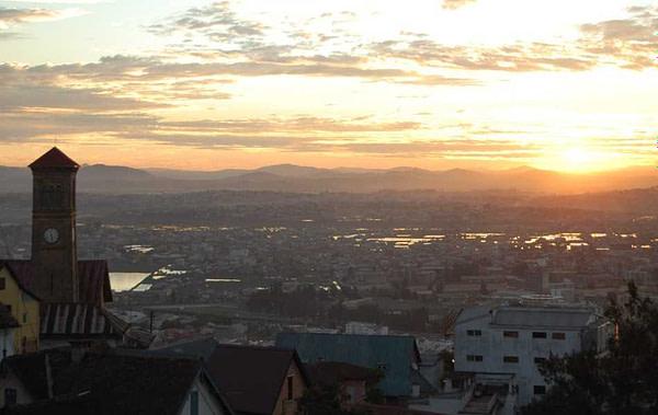 Antananarivo Madagascar Sunset